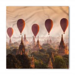 Tapınak ve Balon Temalı Bandana Fular