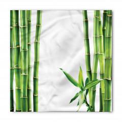 Bambu ve Yaprak Desenli Bandana Fular