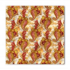 Turuncu ve Sarı Çiçek Bandana Fular