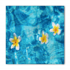 Sudaki Çiçek Temalı Bandana Fular