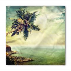 Ada Palmiye Manzaralı Bandana Fular
