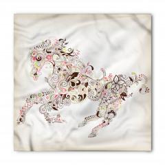 Çiçekli At Desenli