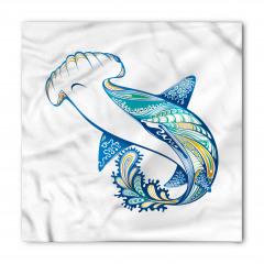 Köpek Balığı Desenli Bandana Fular