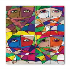 Kadın Yüzü Temalı Bandana Fular