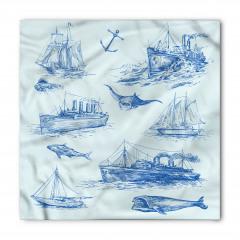 Antik Denizcilik Temalı Bandana Fular