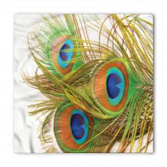 Tavus Kuşu Tüyü Desenli Bandana Fular