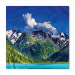 Göl ve Karlı Dağ Temalı Bandana Fular