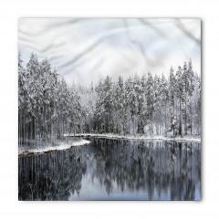 Karlı Ağaç Göl Temalı Bandana Fular