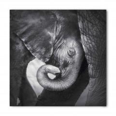 Fil ve Yavrusu Temalı Bandana Fular