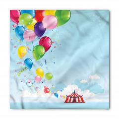 Sirk Balon ve Gökyüzü Bandana Fular