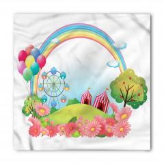 Gökkuşağı Balon ve Sirk Bandana Fular
