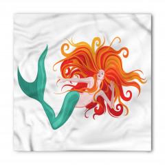 Kızıl Saçlı Deniz Kızı Bandana Fular