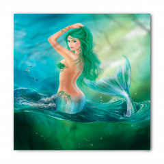 Yeşil Saçlı Deniz Kızı Bandana Fular