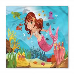 Rengarenk Deniz Kızı Bandana Fular