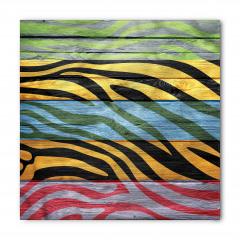 Rengarenk Zebra Baskılı Bandana Fular