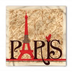 Paris Temalı Bandana Fular