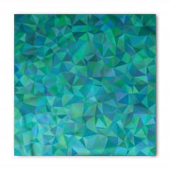 Üçgen Mozaik Desenli Bandana Fular