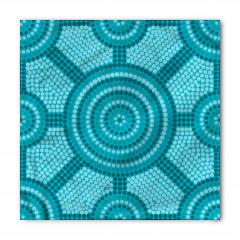 Mavi Mozaik Desenli Bandana Fular