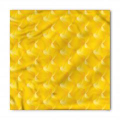 Sarı Dekoratif Desenli Bandana Fular