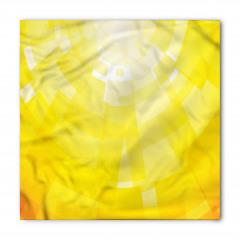 Sarı Arka Planlı Bandana Fular