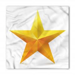 Parlak Yıldız Desenli Bandana Fular