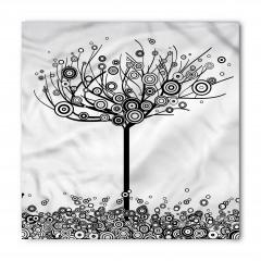 Siyah Beyaz Ağaç Bandana Fular