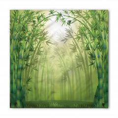 Bambu Ormanı Desenli Bandana Fular