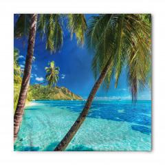 Tropik Adadaki Palmiye Bandana Fular