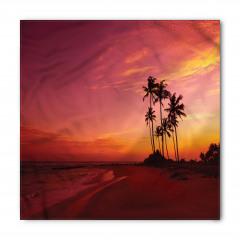 Tropik Adada Gün Batımı Bandana Fular