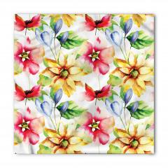 Rengarenk Çiçek Buketi Bandana Fular
