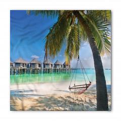 Deniz ve Palmiye Temalı Bandana Fular