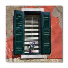 Çiçekli Pencere Temalı Bandana Fular