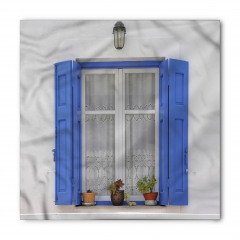 Mavi Pencere Temalı Bandana Fular