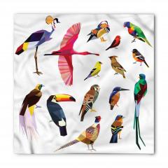 Rengarenk Kuşlar Temalı Bandana Fular