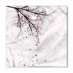Kiraz Çiçekleri Temalı Bandana Fular