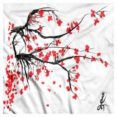 Kiraz Çiçeği Temalı Bandana Fular