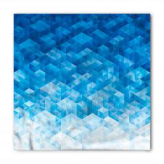 Mavi Geometrik Desenli Bandana Fular