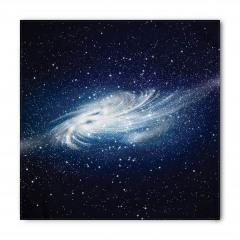 Beyaz Galaksi Desenli Bandana Fular
