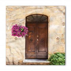 Kapı ve Mor Çiçek Bandana Fular