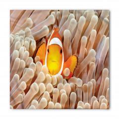Balık ve Mercan Desenli Bandana Fular