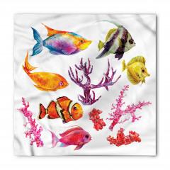 Balıklar ve Mercan Bandana Fular
