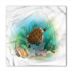 Turkuaz Deniz Desenli Bandana Fular