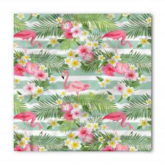 Flamingo Tropikal Çiçek Bandana Fular