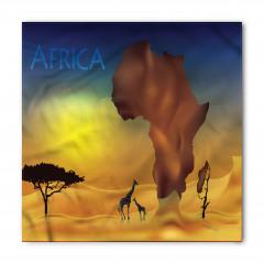 Zürafa ve Afrika Bandana Fular