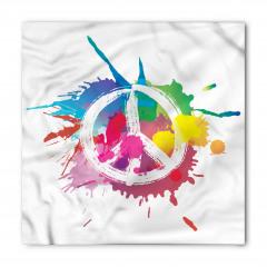 Rengarenk Barış Temalı Bandana Fular