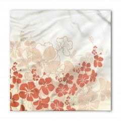 Tropik Çiçek Desenli Bandana Fular