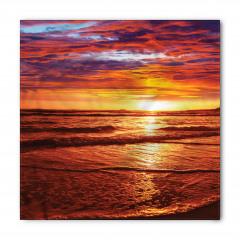 Deniz Kıyısı Gün Batımı Bandana Fular