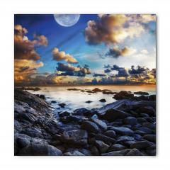 Deniz Kıyısı Manzarası Bandana Fular