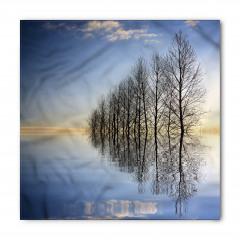 Ağaçlar ve Göl Bandana Fular
