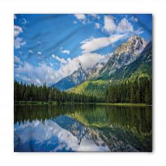 Ağaçlı Göl Desenli Bandana Fular